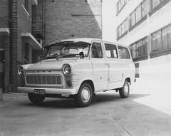 Survey Office Ford Transit vehicle, registration No. QGO925, Brisbane, April 1973 (Queensland State Archives) Tags: queenslandstatearchives qsa queensland brisbane fordtransit ford van 1970s 1973