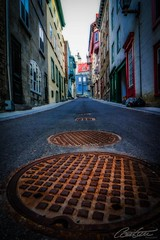 Manholes! (corineouellet) Tags: canonphoto canoncanada canon québec canada discover travel architecture old view cityscape streetview streetphoto street oldcity oldquebec city manholes manhole