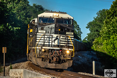 Westbound NS Auto Train at Missouri City, MO (Mo-Pump) Tags: train railroad railfan railroader railway railroading railroads locomotive