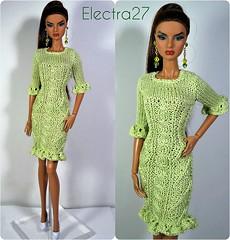 dress for fashion royalty (electraere) Tags: fr2 fashionroyalty dolls12 doll dress clothes knitingdoll knit