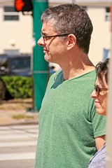 Man at March to Save our Lives (LarryJay99 ) Tags: marchtosavelives westpalmbeach florids antitrump 2018 glasses sunglasses profile stubble handsome chest man men guy guys dude male studly manly dudes