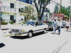 A 1985 AUDI 5000 IN JULY 2018 (richie 59) Tags: ulstercountyny ulstercounty newyorkstate newyork unitedstates sunday weekend trees automobiles autos motorvehicles vehicles saugertiesny saugerties cars richie59 america carshow outside crowd people trucks summer grass audi sawyermotorscarshow 2018 july2018 july82018 1985audi5000 1985audi audi5000 2010s hudsonvalley midhudsonvalley midhudson ny nys nystate usa us 1980scar germancar europeancar village villagestreet street 4door fourdoor 4doorsedan fourdoorsedan sedan audisedan germansedan europeansedan oldcar frontend grill headlights sideview poles wires mainstreet