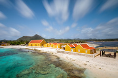 Caribbean dreamin' (Beth Bennett & Gérard Cachon) Tags: bocaslagbaai boca beach longexposure clouds washingtonpark reef coral desert bonaire netherlands antilles caribbean roof tile sand rocks brandaris