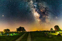Stars and Mars (Troy A. Snead) Tags: milkywaygalaxy milkywayseason astrophotography astroscape stargazing normalvillepa starrynight stars planets nightphotography ngc nightsky antistartrails mars deepskyobjects nebula galacticcenter