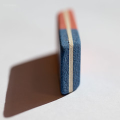Macro Mondays - My eraser (Normann Photography) Tags: 292018 eraser 187040 fabercastell macromondays barcode latexfree macro strekkode texture blue red lines shadow composition
