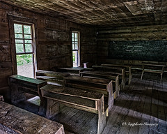 Little Greenbrier School Interior (augphoto) Tags: americana augphotoimagery architecture building history old school schoolhouse structure weathered gatlinburg tennessee unitedstates