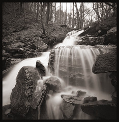 Waterfall Along the Cheat (DRCPhoto) Tags: zeroimage pinhole lenslessphotography 6x6 squareformat ilfordxp2super 120film westvirginia