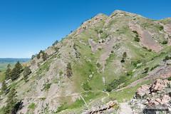 Bear Butte Ascent (kevin-palmer) Tags: bearbutte statepark bearbuttestatepark southdakota blackhills sturgis june summer spring morning sunny blue sky nikond750 tamron2470mmf28 scenic view trail path talus green