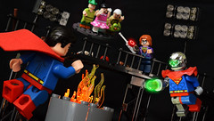 The Toyman of Terror! (Andrew Cookston) Tags: lego dc comics superman clark kent lois lane jimmy olsen perry white toyman winslow schott robot toy superhero custom minifig minifigs macro still life photography andrew cookston andrewcookston