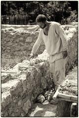 Mauerbau im Mittelalter (jmwill2005) Tags: mittelalter campus galli messkirch meskirch karolinger st gallen gallener klosterplan handwerk