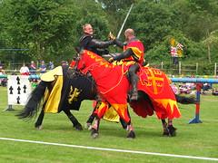 DSCF3737 (SierPinskiA) Tags: ruffordabbeycountrypark rufford knightsofnottingham fujixs1 jousting medieval horse knights goldeneagle falcon