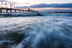 in the water ([-ChristiaN-]) Tags: langzeitbelichtung strand beach le longexposure water waves wasser wellen sunset night pier seebrücke zingst sky light bluehour