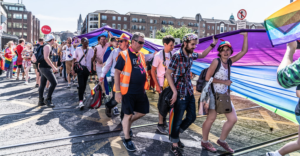ABOUT SIXTY THOUSAND TOOK PART IN THE DUBLIN LGBTI+ PARADE TODAY[ SATURDAY 30 JUNE 2018] X-100058
