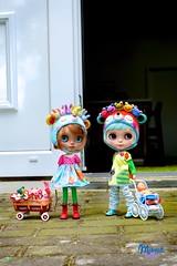 ..this is my wonderful doll world.. (Miema) Tags: miema miemadollhouse blythe outdoor summer girls doll takara tomy toy