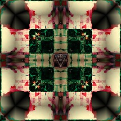 DeNATURÆ #00 by D#27 (EK4T3 COLLECTIVE) Tags: ek4t3 hypnosiswave materiaobscura magic triangle artwork symmetry symetric parallel abstract absurd nonsense manipulation d27 square black green violet purple white background psycho art music collective specular aestetic italy perspective weird