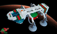 Octan Eagle (David Roberts 01341) Tags: space scifi spaceship lego minfigure tanker cargo octan transporter
