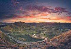 Fire Above - Mam Tor (BenPriestley) Tags: sonyimages sony sonya7r2 sonyalpha tokina1116 nisifilters nisi derbyshire peakdistrict edale sunset sky road peaks landscape scapes