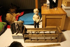 Bed WIP: progress update (Wolfboy141) Tags: dollinmind dimdoll dim happy larina soombodycs hybrid bjd msd diorama furniture diy