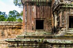Ta Kour Entrance to Angkor Wat Cambodia -11 (Yasu Torigoe) Tags: takouentrancetoangkowatdetailsofthewindowsanddevatas krongsiemreap siemreapprovince cambodia kh takouentrancetoangkowatdetailsofthewindowsanddevatasreliefofdeityandstacksofrocksthatmakeuptheentrancestructure