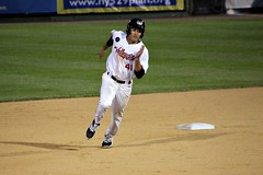 HEADING FOR THIRD (MIKECNY) Tags: run roundingsecond tricityvalleycats baseball minorleague astros nypennleague