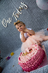 Baby Zayla-19 (Andy barclay) Tags: baby happy birthday 1st toddler girl cake smash one first smile messy portrait young pink