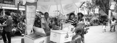 Ice Cream Vendor (JamCanSing) Tags: hasselblad xpan panoramic pano street blackandwhite bnw xtol