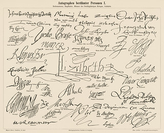 Autographs of Famous Figures 1 (1894). Digitally enhanced from our own original plate.
