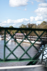 (breakbeatbilly) Tags: freeportmarina californiadelta freeport clouds bridge abstract minimal marina dock river sacramento