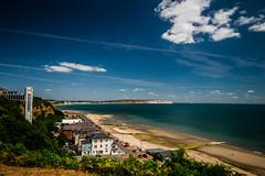 Shanklin (selvagedavid38) Tags: beach summer holiday postcard sky sun sea isle wight island uk england cliffs view blue shanklin seaside clouds