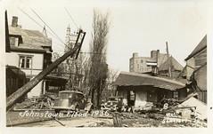 Johnstown Flood of 1936 - Johnstown, Pennsylvania (The Cardboard America Archives) Tags: 1936 vintage postcard flood johnstown disaster cityinruins