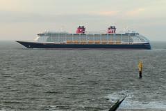 """Disney Dream"" on test run near Borkum island (Manfred_H.) Tags: vehicles fahrzeuge schiffe ships kreuzfahrtschiff cruiser testfahrt testrun"