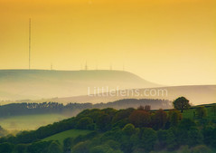 winterhilltransmitter (Misses Davies) Tags: winter hill bolton fire peat sunset trees lancashire summer tower