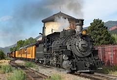 Highball Hermosa (jterry618) Tags: durangosilvertonnarrowgaugerailroad durango colorado steamlocomotive railroad train engine car steam