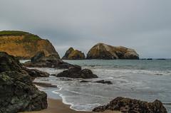 Rodeo Beach (rmstark3) Tags: redeo beach california san francisco fog clouds ocean water rocks tide marin headlands cliffs