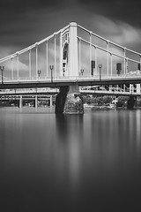 Pittsburgh Shutter Series - Image three (benpsut) Tags: blackandwhite monochrome bridge pittsburgh cloud slow shutter longexposure slowshutter andywarhol warhol art abstract whispy clouds yellow mapping