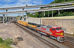 "Southbound Local in Kansas City, MO (""Righteous"" Grant G.) Tags: bnsf atsf santa fe ge emd power locomotive ns norfolk southern south southbound local transfer freight yard job kansas city missouri"