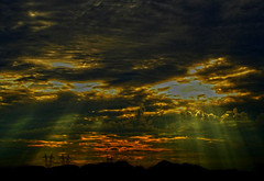 Damn Powerlines (oybay©) Tags: vistancia arizona mountain sunrise clouds cloudy powerlines mountains stormy stormyweather albaluminis lightbetweenclouds abigfave cloud sky outdoor