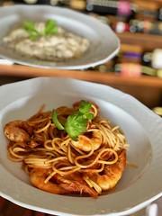 Handmade pasta (caciopepesantorini) Tags: handmadepasta italianfood italianrestaurant pasta shrimps tastedfood santorinirestaurant santorini premiumrestaurant premiumquality quality freshseafood