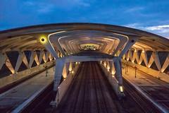 Lyon - Aéroport - Saint Exupery - gare TGV (Jean-Philippe Le Royer) Tags: urban architecture g1x canon saintexupery nocturne night gare railway tgv