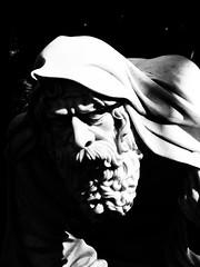 old man (Darek Drapala) Tags: history old cemetery cemeteries cementary cementery grave stones sculpture bw blackwhite blackandwhite shadow shade shadows shape shapes panasonic poland polska panasonicg5 powazki warsaw warszawa tomb tombstone