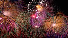 Mqabba Fireworks (Lee Rosenbaum) Tags: mqabba night fireworks composite timestack longexposure malta limqabba mt feastofourladyofthelily