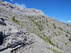 Nihahi Ridge Scramble - The summit ridge comes into view (benlarhome) Tags: kananaskis alberta canada nihahiridge trail path hike scramble rockies rockymountain