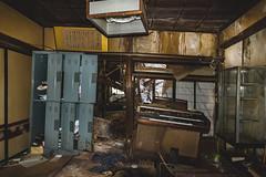The Y. Grand - Organ (Xavier Maire Urbex) Tags: abandoned japanese hotel onsen hot springs monkey decay moss mold snow rooms bath sauna mess rust haikyo urbex
