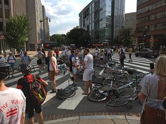Ride of Silence for Jeff Long 5 (Mr.TinDC) Tags: bikedc rideofsilence jefflong memorial protest bikes dc washingtondc people friends cyclists biking mstreetnw mstreet