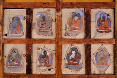 Hemis Gompa, Ladakh (pallab seth) Tags: mural painting wall hemisgompa leh hemis gompa tibetanbuddhistmonastery architecture religion religious ladakh jammuandkashmir india gururinpoche padmasambhava art asia buddhism buddhist buildinginterior colorimage culture detail fresco frescoes heritage interiors monasteries monastery temple temples travel traveldestinations wallpainting relics artefacts