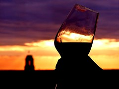 Summer feeling! (BrigitteE1) Tags: sunset sonnenuntergang berlin summer summerfeeling sky cheers himmel wein rotwein vine redvine glas silhouette