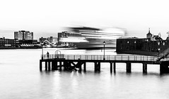 Passing Ship (Matthew Bickham) Tags: portsmouth harbour ship city oldtown jetty