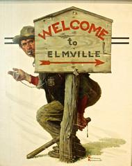 Welcome To Elmville (pecooper98362) Tags: stockbridge massachusetts normanrockwellmuseum normanrockwell magazinecoverillustration thesaturdayeveningpost april201929 welcometoelmville oiloncanvas speedtrap