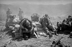 DAK TO 1967 - Soldiers Resting at a Bunker atop Hill 875 in South Vietnam (manhhai) Tags: adults americanarmedforces armedforces asia asianhistoricalevent battle battleofhill8751967 bunker centralhighlandsregion dacto exhausted group hill hill875 historicevent kontumprovince males men military militaryfortification militarypersonnel northamericanhistoricalevent people pillboxbunker resting soldier southvietnam southeastasia tiredness town unitedstatesarmy unitedstateshistoricalevent unitedstatesofamerica vietnam vietnamwar19591975 vietnamesehistoricalevent war youngadults