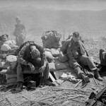 DAK TO 1967 - Soldiers Resting at a Bunker atop Hill 875 in South Vietnam thumbnail